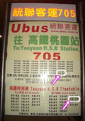高鐵桃園駅行きバス乗り場